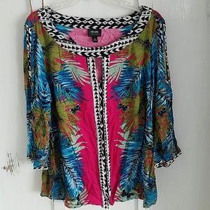 Hawaiian/ floral print blouse